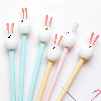 White Bunny Gel Pen