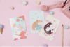 Cat & Cherry Blossom Greeting Cards