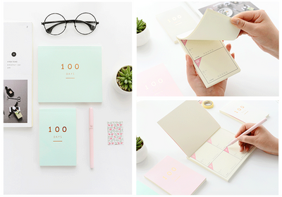 100 Days Planner Notepad