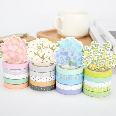 Slim Decorative Washi Tape 5-Pack