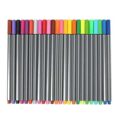 24 Multicolor Fineliner Pen Pack