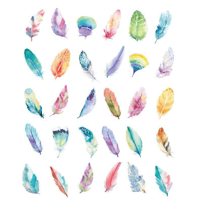 Watercolor Feather Greeting Cards