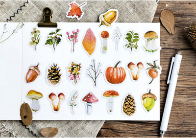 Autumn is Here Paper Stickers