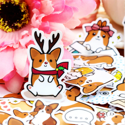 Coco The Corgi Stickers