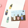 Cactus Magnetic Bookmark Set