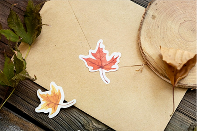 Watercolor Autumn Forest Paper Stickers