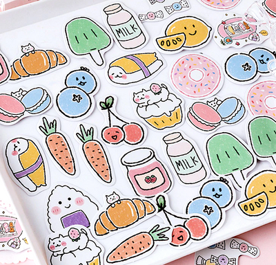 Kawaii Food Paper Stickers