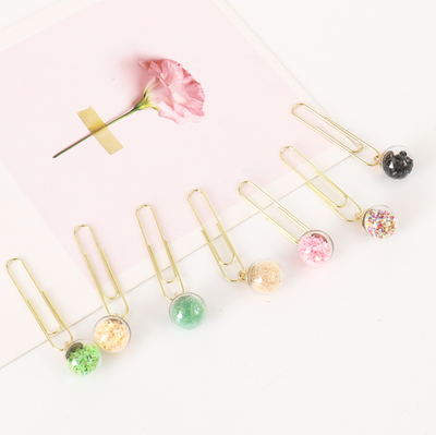 Glass Ball Paper Clips