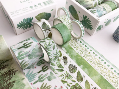 Green Nature Washi Tape Set