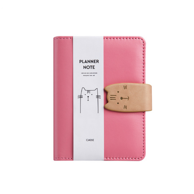 Cat Closure Leather Personal Planner