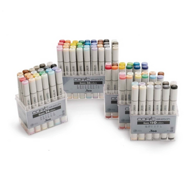 Copic Sketch Markers - Basic 12 Colors Set B