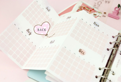 Foldable Monthly Planner Inserts