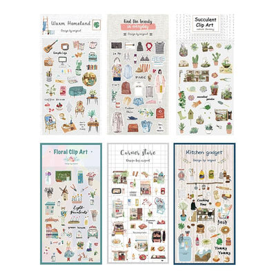 Home Sweet Home Paper Stickers (6 types)