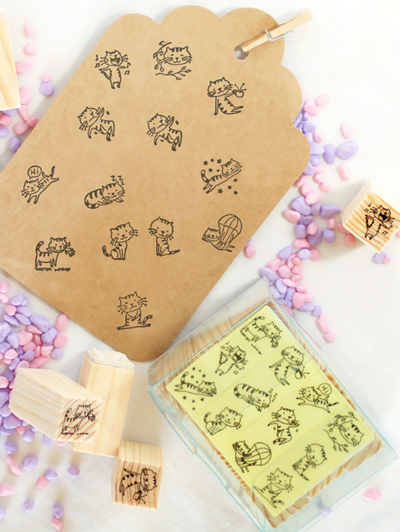 Kawaii Cat Stamp Set