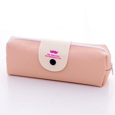 Large PU Leather Pencil Case