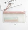 Simple Life Translucent Pencil Case