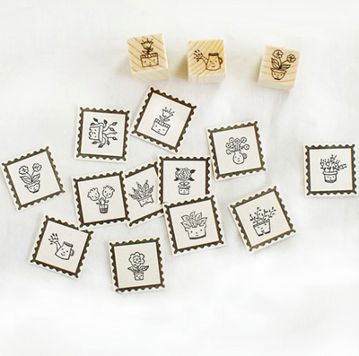 Pot Plants Stamp Set
