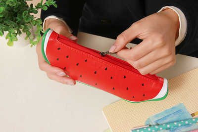 Fruit Shaped Leather Pencil Case
