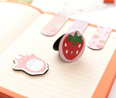 Animal & Fruit Magnetic Bookmarks