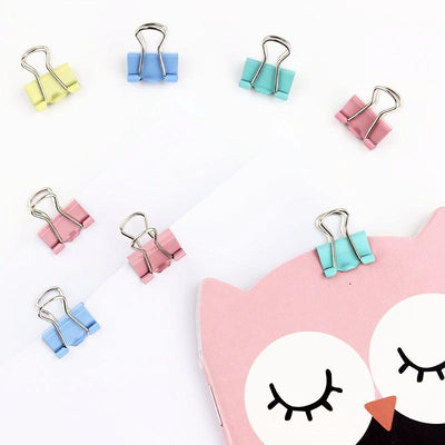Mini Candy Color Binder Clips 25-pack