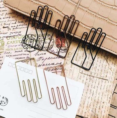 Kawaii Hand Shaped Hollow Metal Bookmark Paper Clip