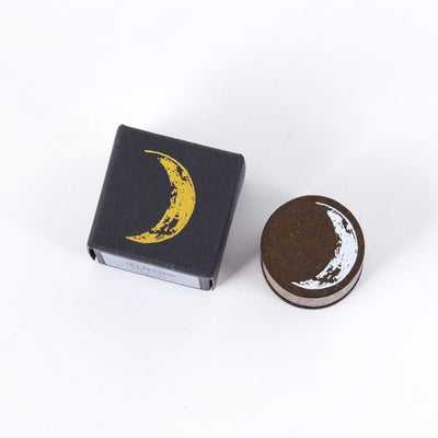 Moon Series Wooden Rubber Stamps Set