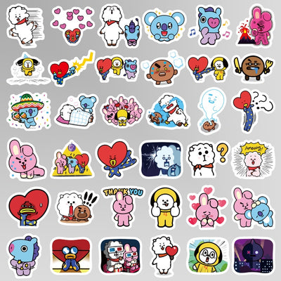 Kpop BT21 Waterproof Stickers