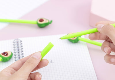 Happy Face Avocado Gel Pen Set (4 pcs/lot)