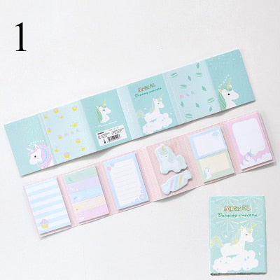Sumikko Gurashi Cute Cartoon Unicorn Memo Pad Sticky Notes