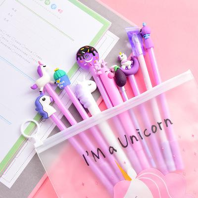 Unicorn Gel Pen with Pencil Case