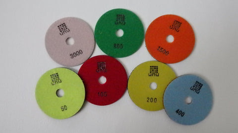 velcro back resin polishing pads