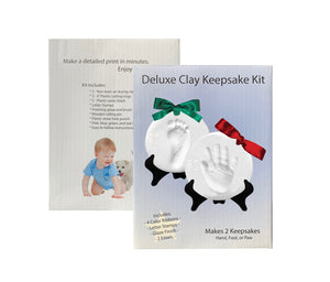 Proud Baby Deluxe Clay Hand Print & Footprint Keepsake Kit  (Makes 2 Plaques)