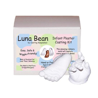 Luna Bean baby hand and foot casting kit by Casting Keepsakes