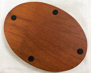 "5 x 7"" Oval Wood Display Base"