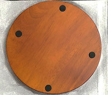 "6"" Round Wood Display Base - Walnut Finish"