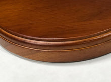 "5 x 7"" Oval Walnut Finish Platform Base"