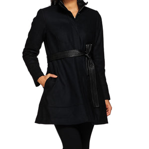 G.I.L.I. Wool Peplum Coat