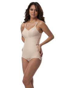 Post Surgery Body Suit with Bra - Brief (Panty Length)