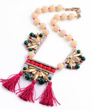 Load image into Gallery viewer, Beads x Tassel Red and Green Necklace