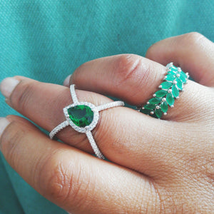 Green Leaf Ring