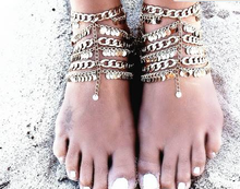 Load image into Gallery viewer, Gypsy Gold Coins Anklet