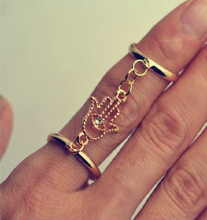 Load image into Gallery viewer, Hasma Hand Finger Gold Ring