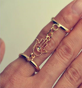 Hasma Hand Finger Gold Ring