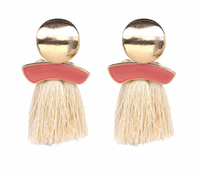 Load image into Gallery viewer, Pink Pastel Tassel Earrings