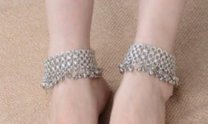 Bell Silver Anklet