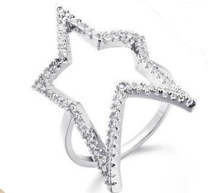 Silver Star  Finger Ring