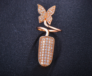 Finger Top Butterfly Ring