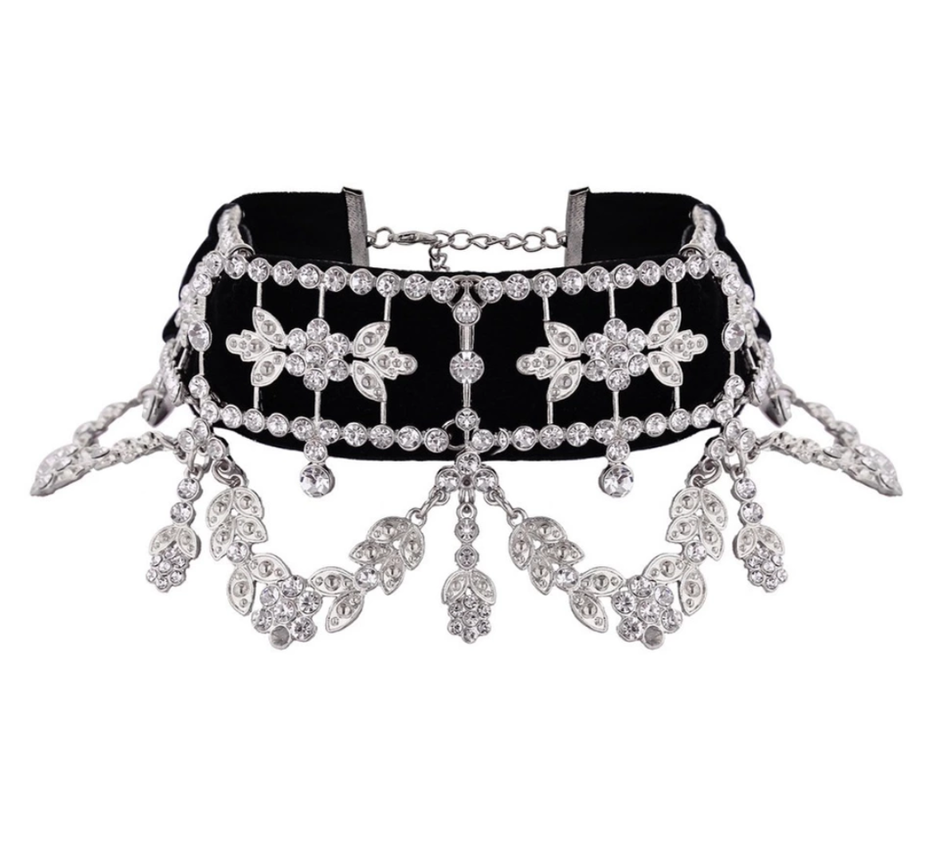 Baroque Black Choker