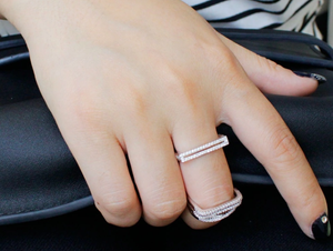 Double Lines Silver Ring