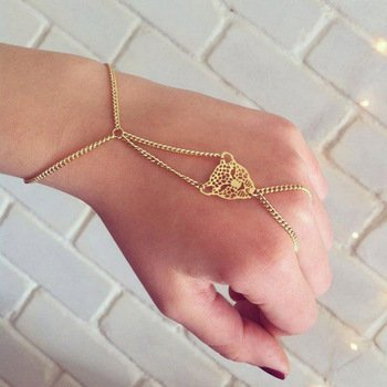 Gold Finger Bracelet